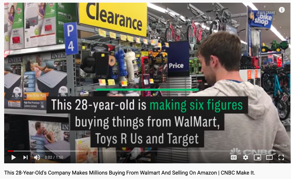 guy makes six figures buying from walmart and selling it on Amazon